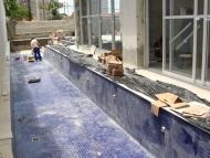 Revestimento piscina e caixilharia spa
