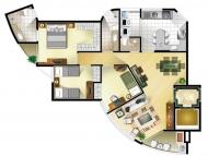 3 dormitórios (opção 1)