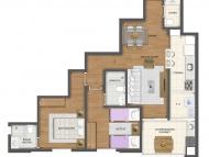 2 dormitórios (Opção 1)